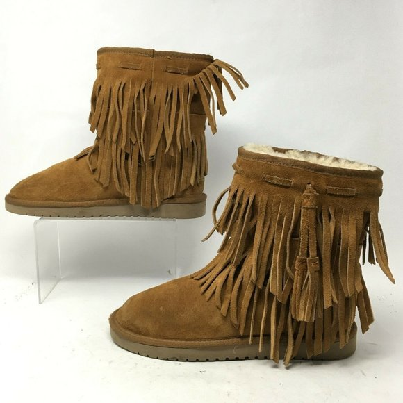 Koolaburra by UGG Womens 7 Ankle Cable Fringed Win